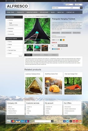 Alfresco Theme - Product Page