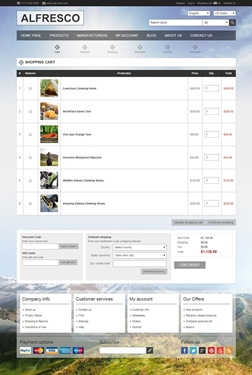 Alfresco Theme - Checkout Page