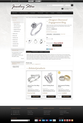 Jewelry Theme - Product Page