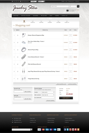 Jewelry Theme - Checkout Page