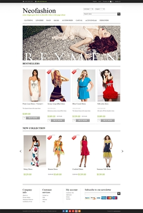 NeoFashion Theme - Home Page