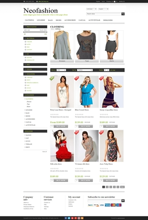 NeoFashion Theme - Category Page