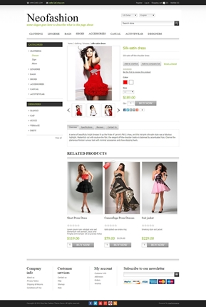NeoFashion Theme - Product Page