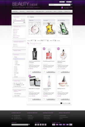Beauty Theme - Category Page