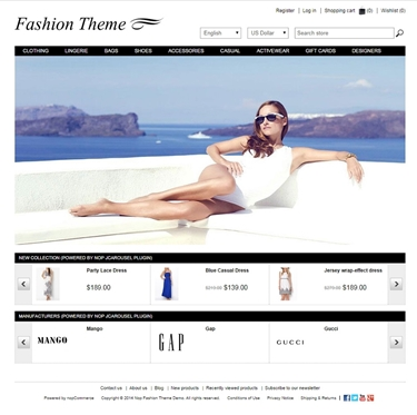Fashion Theme - Home Page