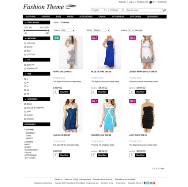 Fashion Theme - Category Page