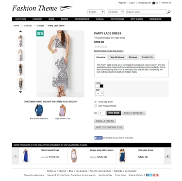 Fashion Theme - Product Page