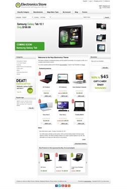 Electronics Theme - Home Page