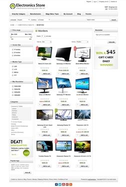 Electronics Theme - Category Page