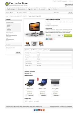Electronics Theme - Product Page