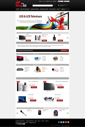 ShopAll Theme - Home Page