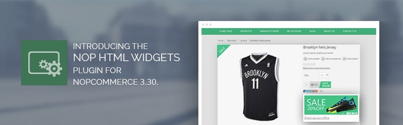 Introducing the Nop HTML Widgets plugin for nopCommerce 3.30.