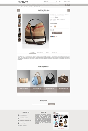 Tiffany Theme - Product Page