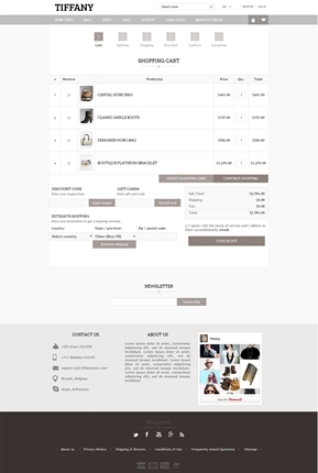 Tiffany Theme - Checkout Page