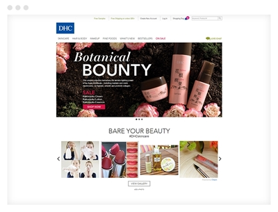dhc care using the Nop Beauty Theme