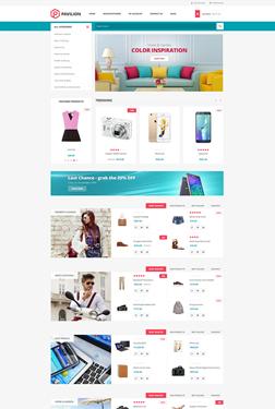 Pavilion Theme - Home Page Variant 1