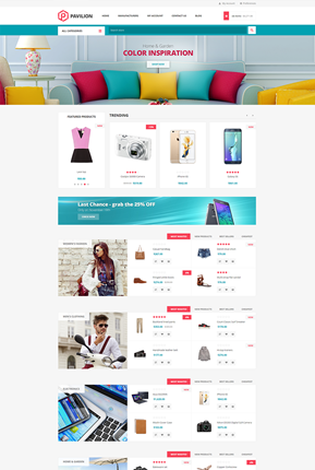 Pavilion Theme - Home Page Variant 2