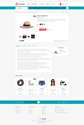 Pavilion Theme - Product Page