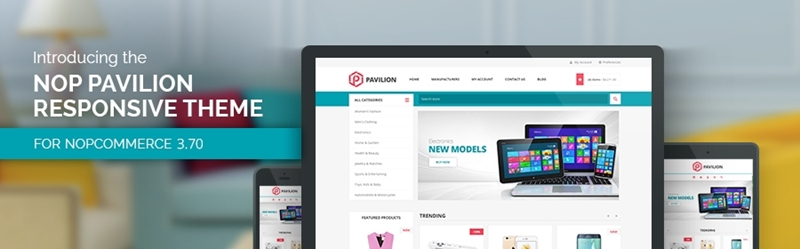 Let's welcome the new Nop Pavilion Theme – the mega store king for nopCommerce.