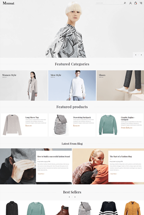 Minimal Theme - Home Page