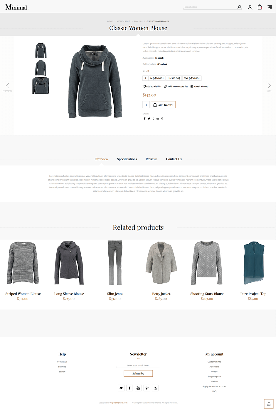 Nop minimal responsive theme for Nop commerce templates
