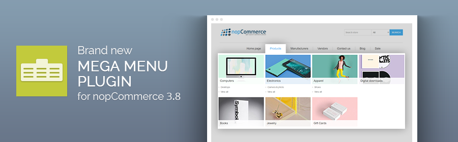 How to build a custom menu with the new Nop Mega Menu plugin for nopCommerce 3.80.