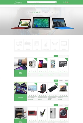 Prisma Theme - Home Page Variant 1