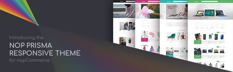 Nop Prisma Theme released for nopCommerce 3.90