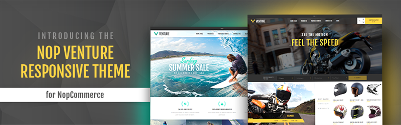 Nop Venture Theme Released for nopCommerce 4.0.