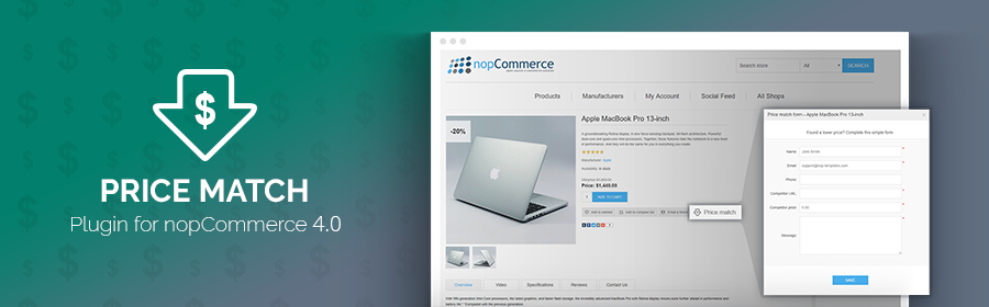 Nop Price Match plugin released for nopCommerce 4.0