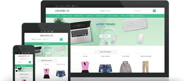 Preview of Universe Free Theme for nopCommerce