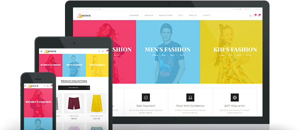 Preview of Avenue Theme for nopCommerce