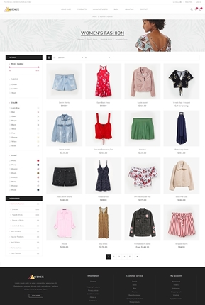 Avenue Theme - Category Page