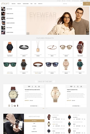 Pacific Theme for nopCommerce - Home Page