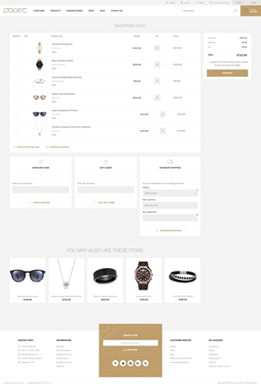 Pacific Theme for nopCommerce - Shopping Cart