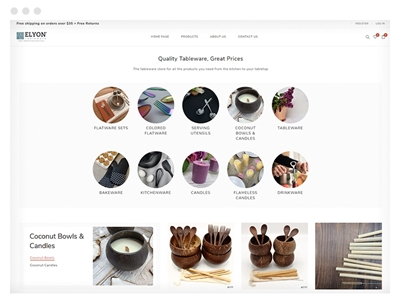 elyontableware uses avenue theme